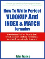EXCEL - How to Write Perfect VLOOKUP and INDEX and MATCH Formulas.pdf