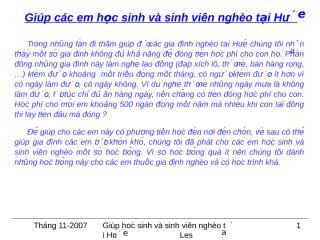Giup hoc sinh ngheo Hue.pps