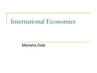 International Economics - Overview 2.pdf