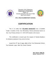 certification of student.doc