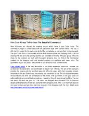 Hire Gaur Group To Purchase The Beautiful Commercial.PDF