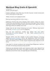 Membuat Blog Gratis di Openshift.docx