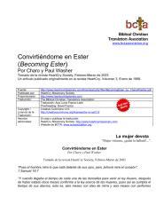 Convirtiéndome en Esther (Becoming Ester) - Charo y Paul Washer