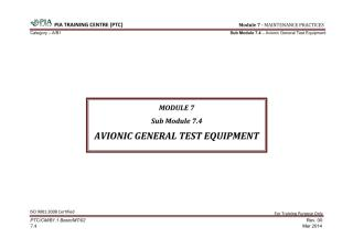 Module 7 (Maintenance Practices) Sub Module 7.4 (Avionic General Test Equipment).pdf