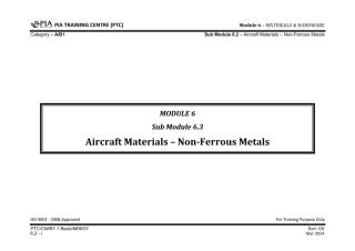 Module 6 (Materials & Hardware) SubModule 6.2 (Aircraft Materials — Non-Ferrous).pdf
