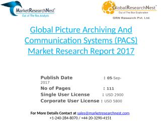 Global Picture Archiving And Communication Systems (PACS) Market Research Report 2017.pptx