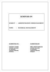 SEMINAR- MATERIAL  MANAGEMENT.doc