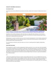 Homes For The Elderly Livermore Ca.docx