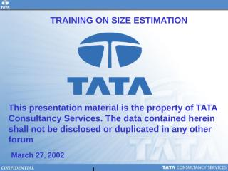 TCS EstimationTraining.ppt